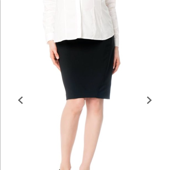 A Pea in the Pod Dresses & Skirts - Black Pencil Maternity Skirt